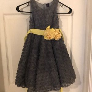 Gray and yellow party dress